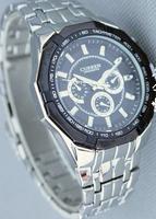 Fashion Brand New Curren Watch Waterproof Man's Sport Watch Stainless Steel Wristwatch Free Shipping White Silver Hour Hot Sale