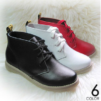 2015 Spring Fashion Candy Color Genuine Leather Women Lace Up Ankle Boots Cowhide Women Martin Boots Ladies Casual Martin Boots