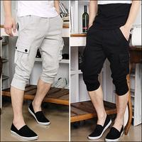 The trend of fashion uyuk slim three-dimensional pocket casual male sports pants capris 1451