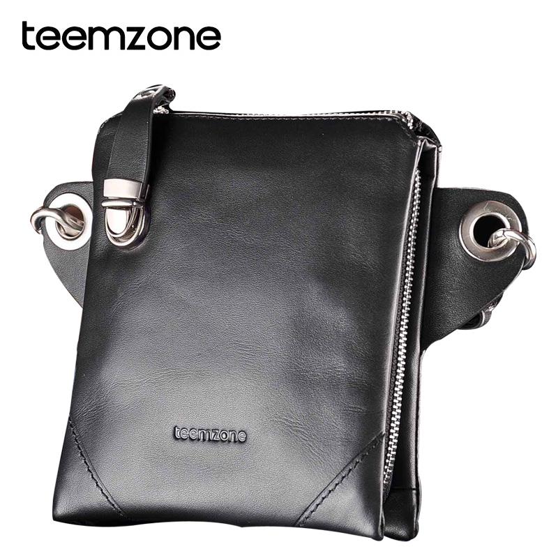 Brand Fashion Men waist pack 100% genuine leather multifunction man mini messenger bag chest pack casual small handbag TE198(China (Mainland))