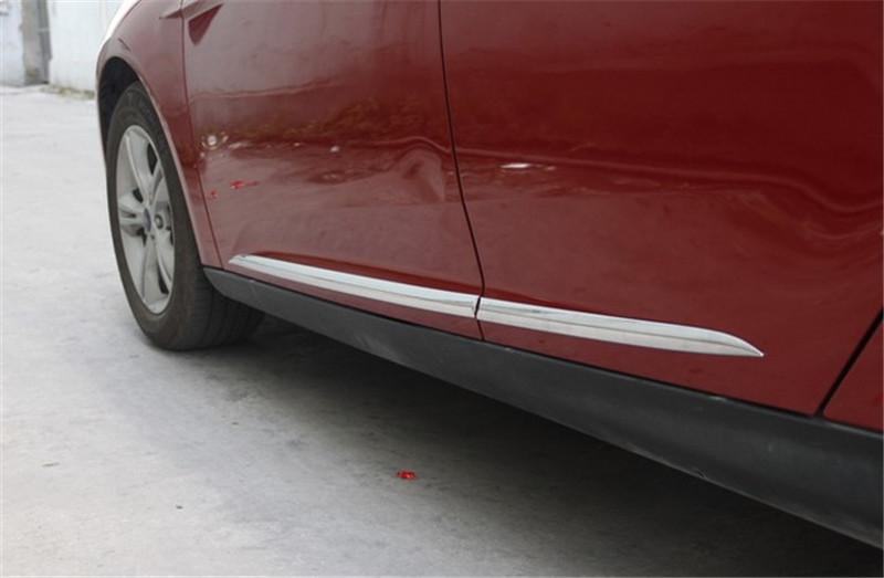 Body door Side Molding cover trim for focus 2012-2013 Chrome 4pcs per set(China (Mainland))