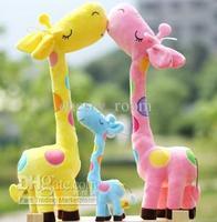 Cute Girls Boys Gifts Giraffe Dotted Colorful Plush Dolls Children Playing Toys Animal Giraffe Stuffed Family Toys Birthday 210