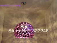 Wholesale power110v 220v e27*1 lamp holder aluminum purple color plum flower chandeliers lights design home residential lighting