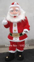 NEW SANTA Mascot Costume cartoon Fancy Dress Free Shipping