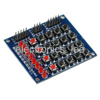 8 LED 4x4 Push Buttons Matrix Keyboard FOR Arduino AVR ARM STM32