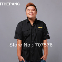 Thepang men's plus size clothing summer plus size plus size thin american military short-sleeve shirt vlsivery large bust