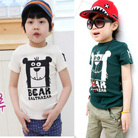 Children's clothing male female child summer child full T-shirt short-sleeve cotton vest short-sleeve children's clothing