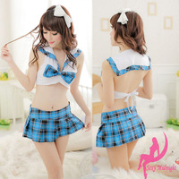 Bling Recommend Student clothes set uniform short skirt ol work wear sexy temptation ol sleepwear