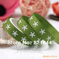 "2013 Free Shipping 100 yards/spool 3/8"" 9mm Little Star two Style Printed Grosgrain Ribbon Hair Bows Wholesales"