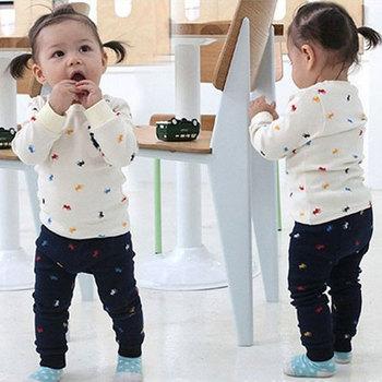 Unnisex Boys Girls sport suits Children Clothing Set baby printing long sleeve t-shirt +pants Free shipping