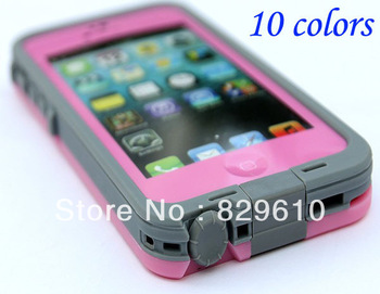 10PCS/LOT,Hot 12 color Shockproof Waterproof Case Cell Phone Cases Protector Water Proof  case For iPhone 5
