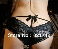 Free shipping Cotton low waist lace underwear Sex Lace women's underwear ,Briefs ,Sexy Panty Thong