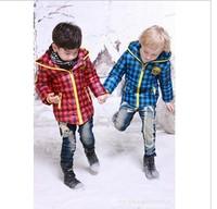 Brand children down jacket, boys girls fashion plaid warm coats, free shipping--U042