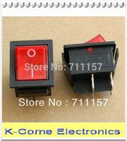 Free Shipping DPST Operation illuminated KCD2 mini rocker switch,boat switch,4 pins,250V