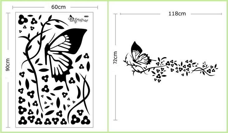 Tribales en cuartos imagui for Mural de flores y mariposas