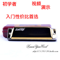 free shipping Harmonica blues harmonica c gold