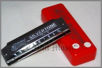 free shipping Huang 103 silver thickening 10 blues harmonica c