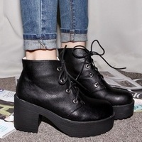 2013 sty nda lacing platform high-heeled shoes thick heel platform boots female shoes