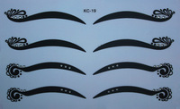 Kc-19 black eyeliner double eyelid eye shadow stickers white