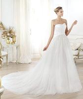 2014 Famous Brand Beautiful Sweetheart Sequin Floor-Length Chapel Train Sleeveless Designer Wedding Dresses