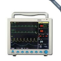 CMS8000 6-Parameter TEMP, Pulse Rate, Respiration, ECG, SPO2, NIBP Digital Medical ICU Patient Vital Signs Monitor