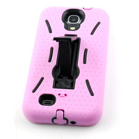 Silicone Combo Armor Defender Back Stand Cover Case for Samsung Galaxy S4 i9500 free shipping
