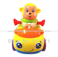 [Dongfan] 8pcs Cartoon Deer & Monkey Baby Lovely Inertia car Toys  Educational Toys Kids toy birthday gift free shipping