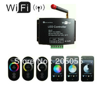 New WiFi LED Dimmer Controller Color Temperature adjustment RGB strips Android  IOS system Smartphone RF touch controll wireless