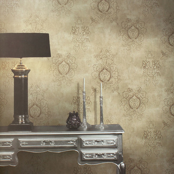 New classical bud non-woven wallpaper bedroom wallpaper