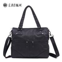 Lovers bag commercial handbag messenger shoulder bag cell phone pocket zipper PU male fashion