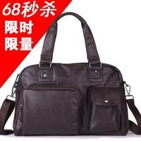 2013 Handbag+shoulder bag + messenger bags motorcycle cell phone pocket PU zipper travel black