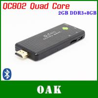 QC802 Quad Core Android TV Box/Mini PC RK3188 2GB DDR3+8GB Flash Nand HDMI/WiFi/Bluetooth