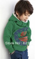 Free shipping  hot selling2013 Autumn fashion 100% corduroy children sweatshirts