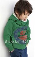 Free shipping  hot selling2013 Autumn fashion 100% corduroy children sweatshirts