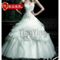 2013 princess wedding dress exquisite handmade flower long formal dress ty8805