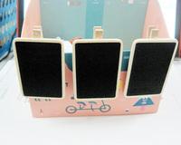 Small Wood Blackboard Peg/Clip Rectangle wooden Pegs 6.8cm*4.8CM