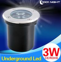 2014new type!ground buriedlight!3w DC12V 24V inground garden light ourdoor led lighting,free shipping! 300LM,Underground Lamps