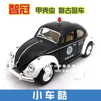 Soft world 1967 vintage vw beetle police car alloy police car model toy toys