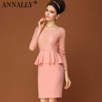 2013 autumn annally women's fashion brief elegant long-sleeve dress slim