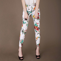 2013 summer OL outfit brief elegant slim print casual trousers k87 plus size available