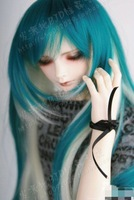 Free shipping BJD/SD doll high temperature silk wig (1/3)