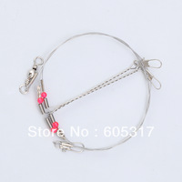 [special offer] Express Free Shipping 10pcs/lot Fishing Stainless Steel Wire Leaders with Rigs & Swivels