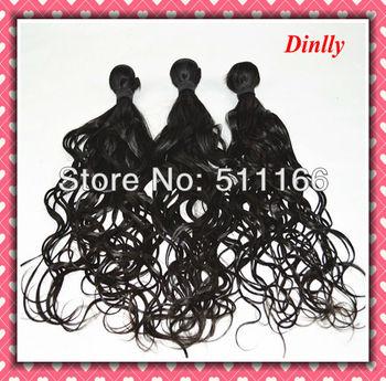 6a grade unprocessed filipino virgin hair Chinese natural wave 3bundles black mixed wet and wavy Dinlly perfume original brand