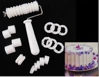 Fondant Ribbon Cutter Roller Embosser Cake Decorating