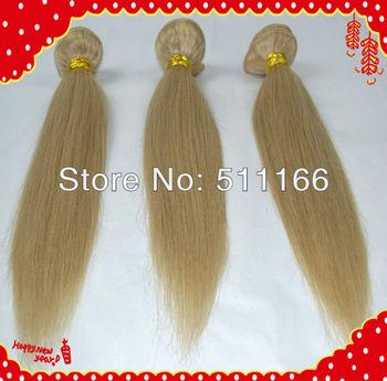 Perfume original brand new jolly human braiding hair Eurasian straight virgin hair 3pcs mixed #613 blonde fast shipping