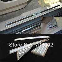 POLO Cross Replacement Polished Door Sill Steel Scuff Plate Pad for Land Rover Freelander2 2008 2009 2010 2011 Stick No Drilling