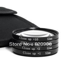 100% GUARANTEE New Macro Close Up +1+2+4+10 Lenses for Nikon D90 D3000 D3100 D5000 D5100 D7000 52mm