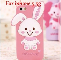 3D bow girl hello kitty silicone Case for iphone 5 5G My Melody Protection shell back Skin 1pcs free shipping
