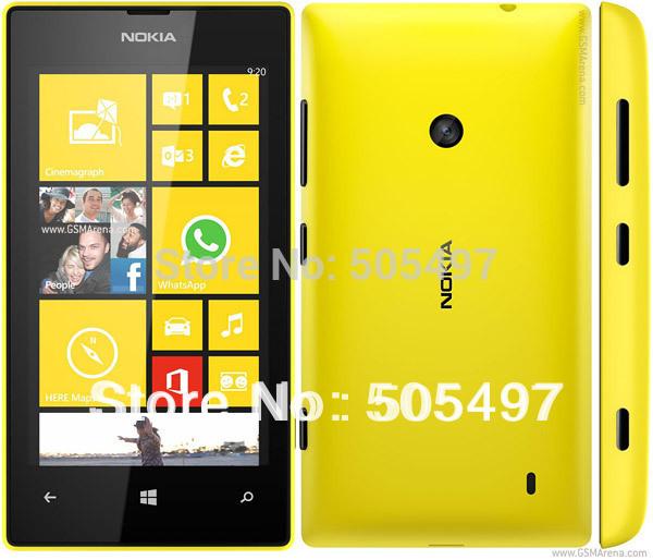 "5pcs/lot Refurbished Original Nokia Lumia 520 4.0"" touchscreen GPS wifi Microsoft Windows Phone 8 OS,8GB ROM 5.0MP Free Shipping(China (Mainland))"