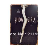 Show Girl Retro tin signs for decor  11.8'' X 7.87''